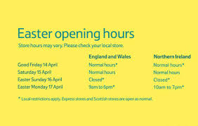 tesco easter opening times holy saturday and easter bank