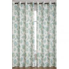 Teal Patterned Curtains Interior Beautiful White Curtains With Green Leaves Brings