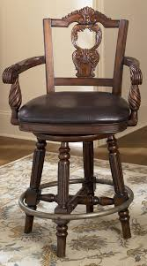 24 Inch Chairs With Arms North Shore 24 Inch Swivel Bar Stool From Millennium By Ashley