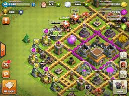 Coc Maps Base Design Town Hall Level 7 4 Defensive On Ultimate Clash Of