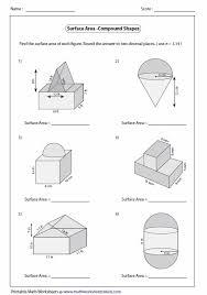 lines surface area worksheets sheet kids