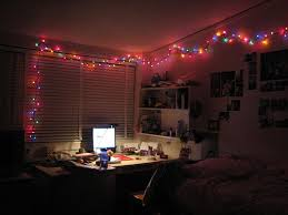 How to Light Your Dorm Room with Christmas Lights and Paper
