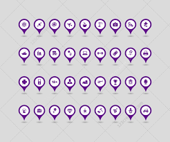 Map Icon Map Icons Ai Eps Png Map Pointers In Various Colors Map