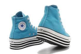 light aqua high top converse converse chuck taylor all star double platform high tops light blue