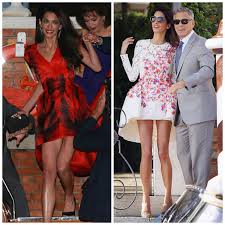 george clooney wedding the spectacle that was george clooney s wedding the dress