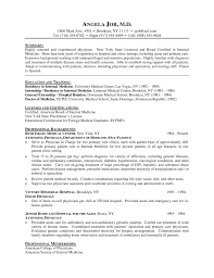 Sample Medical Resume by Resume Career Background