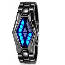 mens bracelet wrist watches images Fashion men led snake head stainless steel band bracelet wrist jpg