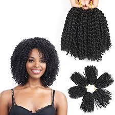 short curly crochet hairstyles amazon com 8 inch short marlybob crochet hair 6 packs lot kinky