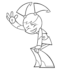 my life as a teenage robot coloring pages my blog