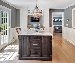 gray kitchen cabinets with black island ellajanegoeppinger com