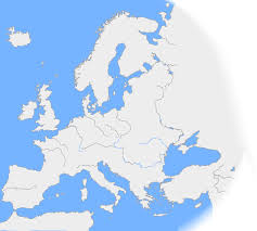 Europe Outline Map by Maps Blank Map Of Europe With Rivers