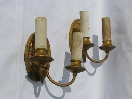 Antique Brass Wall Sconce Pair Of Antique Electric Branched Wall Sconces Vintage Brass