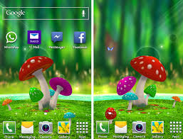 wallpaper 3d mushroom the best live 3d wallpaper for android 3d mushroom garden