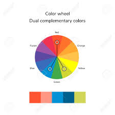 complementary color vector illustration of color circle infographics palette dual