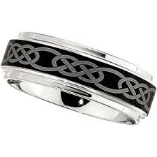 celtic knot wedding bands 8mm dura cobalt wedding band with black laser celtic knot