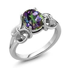 silver topaz rings images Sterling silver mystic topaz ring green oval 9x7mm jpg