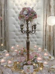 cool vintage wedding table decoration with and candelabra