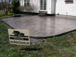 How Much Is A Stamped Concrete Patio by Walkers Concrete Llc Residential Concrete Concrete Driveways