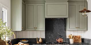 grey kitchen cupboards with black worktop go green with these beautiful kitchen cabinet colors