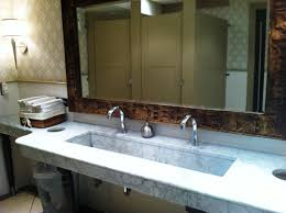 image of double trough sinks for bathrooms