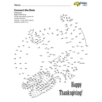 thanksgiving dot to dots worksheets lessons and printables