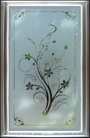 glass design bespoke etched glass glazed toughened safety glass panel