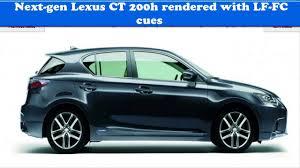 lexus ct200h window visor next gen lexus ct 200h rendered with lf fc cues youtube