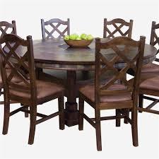Sunny Designs Santa Fe Traditional Round Dining Table With Slate - 60 inch round dining table with lazy susan