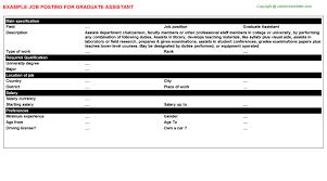 graduate assistant job title docs