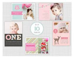 10 psd kids birthday party invitation templates mini pack 19