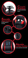 and red executive recliner office chair with footrest