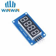 1 pcs 4 bits tm1637 rouge tube numà rique module d affichage led et