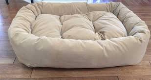 tufted dog beds in large sizes that are washable with warranty