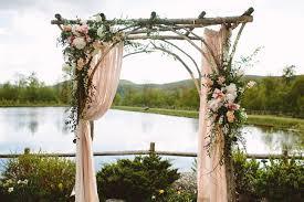 wedding arch log the green florist flirty fleurs the florist