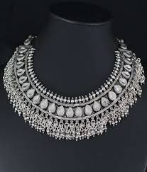 necklace silver india images 925 silver indian silver collar necklace wedding engagement jpg