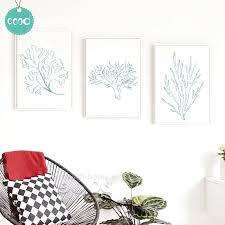 aliexpress com buy sea life plant canvas art print painting