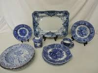 willow pattern jam pot this lot has expired lot art