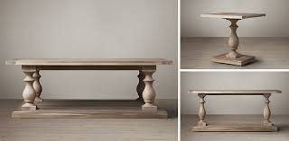 restoration hardware 17 c monastery table 17th c monastery collection grey acacia rh