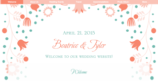 cheap wedding websites five for friday free wedding website templates that are pretty