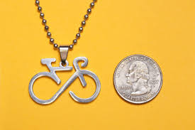 beaded charm necklace images Infinity bicycle bike pendant stainless steel charm necklace jpg