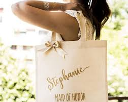 bridal party tote bags bridesmaid bags etsy