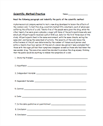 scientific method practice worksheet worksheets