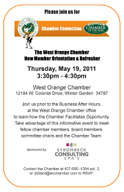 chamber connection new member orientation u0026 refresher west