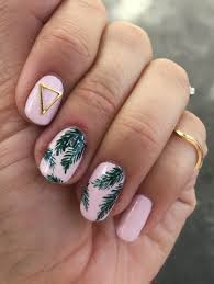 tropical palm print nail art nail art brushes palm print and palm