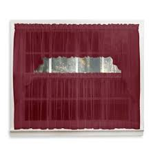 Sheer Maroon Curtains Buy Burgundy Sheer Curtains From Bed Bath Beyond