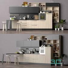 01 kitchen room 3d mili download 3d model free 3d models