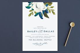 Wedding Invitations Dallas Our Something Blue Wedding Invitations By Ak Graphics Minted