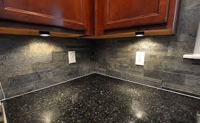 slate backsplash in kitchen black countertop slate brick backsplash backsplash