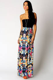 cute strapless maxi dresses