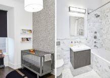 Bathroom In The Kitchen Wood Brick And Refined Panache Modern Industrial Wall Street Loft